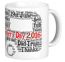 Personalised Mug and Coaster, Father's day, caravan, your own words, word art