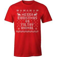 Merry Christmas Ya Filthy Animal T-shirt Home Alone Xmas Costume Party Funny Jok