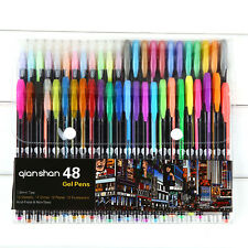 48 colored gel pen ink refills Marker Draw 1.0mm colorful Assorted Color pens