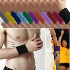 Unisex Terry Cloth Sweatband Sports Basketball Cotton Wristband Wrist Sweat Band