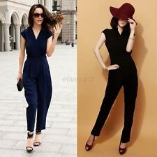 Sexy Women Jumpsuit Cocktail Evening Party V Neck Sleeveless  Romper Pants S-3XL