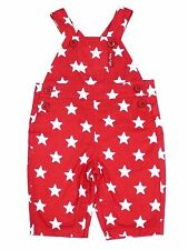 TOBY TIGER BOYS RED STAR DUNGAREES, 100% COTTON TWILL. 0-3 YEARS, BNWT!