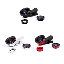 3in1 Fish Eye Lens + Macro Lens Camera Kit + Wide Angle For iPhone/HTC