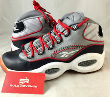 """NEW Reebok Question Mid """"Practice"""" OG Allen Iverson White Pearlized Shoes V67904"""
