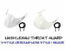 Nash Lexan Hockey Goalie Throat Neck Protector Guard! V-Style or Round Nose, SR