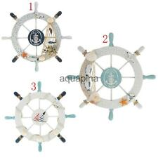 Wood Boat Ship Wheel Nautical Decoration Beach Home Rudder Wall Hanging Decor