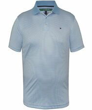 Tommy Hilfiger Mens Light Blue / White Striped Golf Polo Shirt
