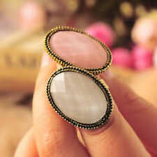 New Retro Style Big Rhinestone Ring Vintage Stone Fashion Girl Hot Sale 6 Colors