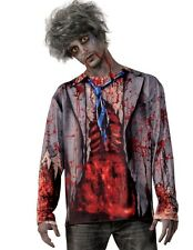 Forum Novelties Gory Zombie Adult Mens Shirt, White/Red