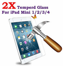 2x Scratch Resist Tempered Glass Screen Protector for Apple iPad Mini 1 2 3 4