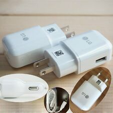 OEM Original USB Date Cable Fast Dual Car Charger Rapid Travel Adapter For LG G5