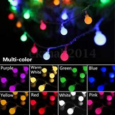 10M 100 LED Fairy String Light Ball Lamp Wedding Garden Outdoor Xmas Tree Party