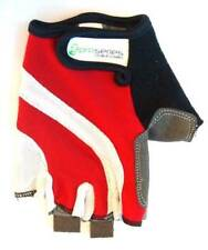 Cycling PRO-SERIES Short Finger / Fingerless Gloves Gel Padded Palm RED/WHITE