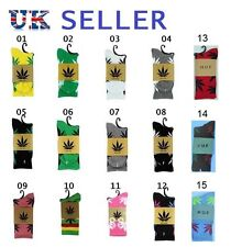 Unisex Plantlife Weed Cannabis Leaf High Socks Huf With Leaves