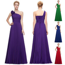 Womens PURPLE Bridesmaid Cocktail Maxi Evening Formal Dress Long Prom Homecoming