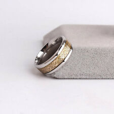 Men Dragon Scale Ring Jewelry Wedding Band 18K Gold Plated Size 8 9 10 11 12