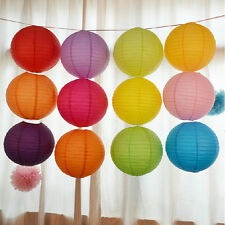 """3""""  Lot Color Chinese Paper Lanterns Wedding Party Decoration Round Decoration"""