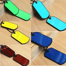 Army Tactical Style Black 2 Dog Tags Chain Beauty Mens Pendant Necklace