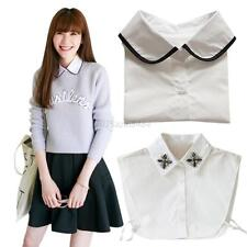 Men's Women's Detachable Peter Pan Lapel Shirt Fake False Collar Choker Necklace