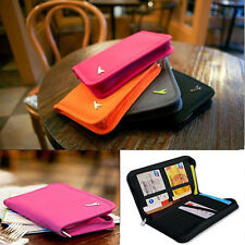 Travel Passport Credit Card Document Holder Case Bag Organizer Wallet Purse YW