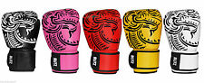 Blitz Adults Firepower Muay Thai Leather Boxing Gloves Sparring