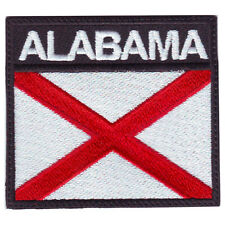 ALABAMA BADGE FLAG EMBROIDERED  PATCH