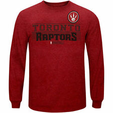 Toronto Raptors Red Marled Long Sleeve T-Shirt