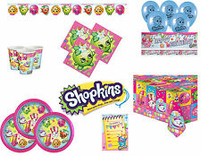 SHOPKINS BIRTHDAY PARTY TABLEWARE, Plates, Napkins, Party Packs etc
