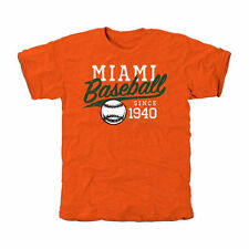 Miami Hurricanes Ballpark Tri-Blend T-Shirt - Orange
