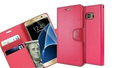 Genuine MERCURY Goospery Hot Pink Leather Flip Case Cover For Galaxy S7 &S7 Edge