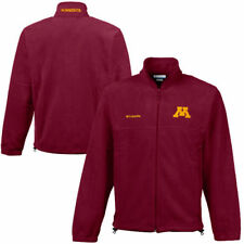 Columbia Minnesota Golden Gophers Maroon Flanker II Full-Zip Fleece Jacket