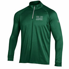 Under Armour Tulane Green Wave Green 1/4 Zip Performance Top