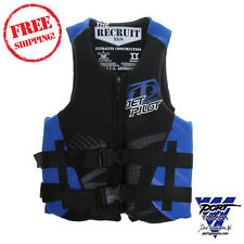 Jet Pilot Neoprene Recruit Blue Life Vest Jacket Pfd Adult Md Lg Xl Xxl Boat