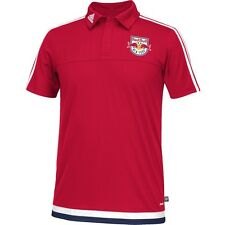 NEW Men ADIDAS New York Red Bull MLS Soccer Football Polo Shirt Red