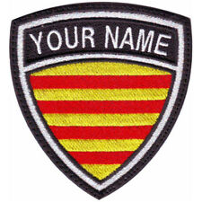 CATALUNYA CUSTOM CREST FLAG NAME EMBROIDERED PATCH