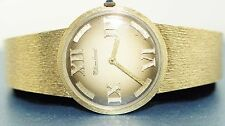 Lucien Piccard all 14k Yellow Gold Vintage Wrist Watch wind-up working