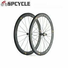 700C 50mm Clincher Carbon Road Bike Wheels Carbon Racing Bicycle Wheelset 11S