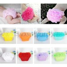 Newborn Baby Infant Girl Ruffles Bloomer Panties Cover Diaper Nappy Briefs 3-24M