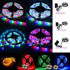 5M SMD 5050 3528 5630 300LEDs Colorful LED Flexible Strip Light 12V Adapter