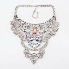 women necklace chain vintage alloy crystal pendant chunky statement necklace new
