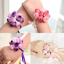 Beautiful Bridal Wrist Handflower Corsage Bracelet Wrist Flower for Prom Party