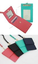 Badge Id Holder Buss Lanyard Card Leather Wallet oyster Tag Neck Strap Mirror