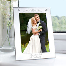 Personalised - on OUR DAUGHTERS WEDDING Day - Picture Photo Frame - Parents Gift