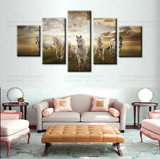 HUGE MODERN ABSTRACT WALL ART OIL PAINTING PRINTED ON CANVAS -RUNNING HORSE