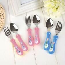Kids Child Fork Cutlery Fork Spoon Stainless Steel Baby Fork Spoon Tool Set - LH