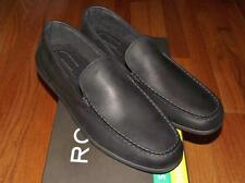 NEW in BOX NIB Rockport Mens Slip-On Loafers Shoes Bennett Lane 3 Venetian Black