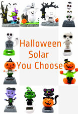 New Solar Powered Dancing Halloween Pumpkin, Skeleton, Ghost,Witch ~ You Choose