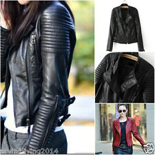 New Women moto biker Bomber Leather jackets designer coat outerwear jacket XS-XL
