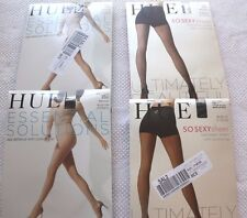 4 HUE So Sexy Essential Solutions Control Top Black Backseam Sheer Nylons Size 2