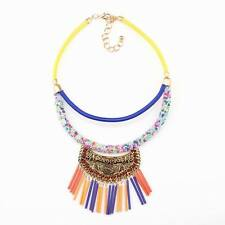 vintage necklace gold pendant rope chain bead chunky statement necklace women